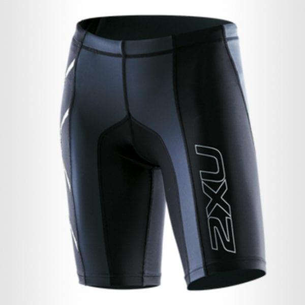 2XU-Womens-Elite-Compression-Shorts-Black-Silver-WA1935B
