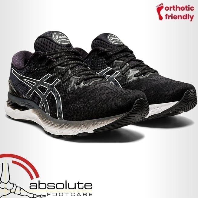 Asics Mens Gel Nimbus 23 Extra Wide 4E Black White 1011B005-001